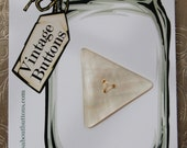 Large Vintage Mother of Pearl Triangle 3-Hole Button 35mm