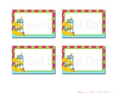 PRINTABLE Girl Waterpark Label Tents #598