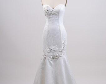 Lace wedding dress, wedding dress, bridal gown, strapless venice lace