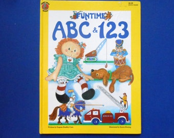Funtime ABC and I23, a Vintage Children's Alphabet and Counting  Book