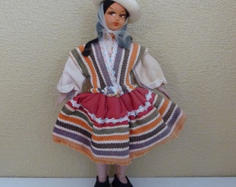 Vintage South American Native Doll bought at Expo 67 in Montreal - Collectible - Bolivia - Argentina