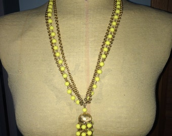 Vintage Puccini Yellow Gold Tassel Necklace Jewelry Accessory