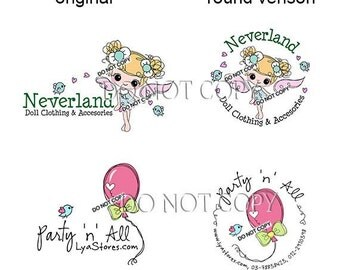 Reserved for someone purchased the logo from me  - Custom Variation round layout to match your logo design purchase from me