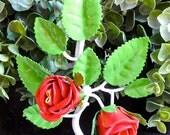 SALE, SALE, SALE Vintage Upcycled Italian Metal Tole Flower Hook