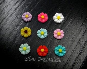 Flower Floating Locket Charm / Memory Locket Charm / Glass Locket Charm