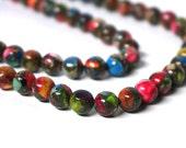 8mm Colorful Mixed Impression Jasper, round gemstone bead, Full & Half Strands (1051S)