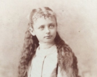 Cabinet Photo Long Haired Girl of Chicago Illinois - C S Mosher - Midwest