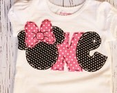 Minnie mouse birthday shirt, one, 1st, 2nd,Mickey mouse girl boy t shirt,