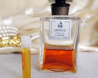 SAMPLE VIAL of decanted vintage perfume, ARPEGE Extrait de Lanvin, Paris France, authentic original formula, .7 ml hand-drawn, French scent