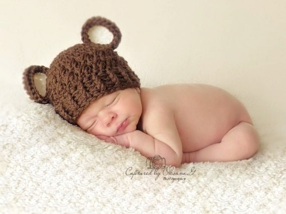 Baby Boy Hat 0 To 3 Months Baby Boy Hat Baby Boy Teddy Bear