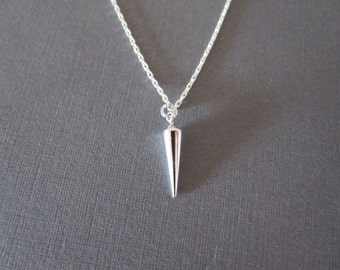 Silver Small Spike Necklace