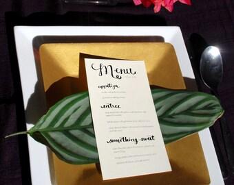 Printable Menu 2 - Fillable PDF Reception or Party Menu