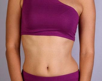 Diagonal Top in Rayon Lycra - Dance wear, Yoga wear, Active wear, Casual wear
