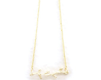 Golden Branch Necklace