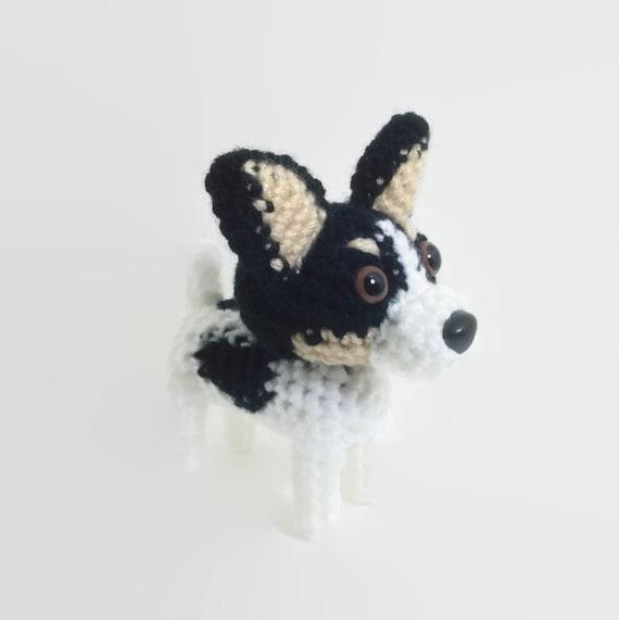 Amigurumi Lab Rat : Rat Terrier Stuffed Toy Amigurumi Dog Crochet Puppy Plush