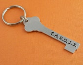 Doctor Who Key to the TARDIS Hand Stamped Keychain
