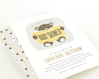 Book-Themed Baby Shower Invitation, Bring a Book Shower Invite // TEDDY READS