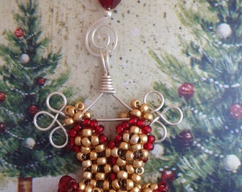 Miniature Beaded Dress Holiday Ornament - Custom Colors Available