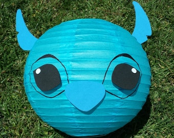 Lilo Inspired Red Paper Lantern and Stitch Inspired Blue Paper Lantern Decorations