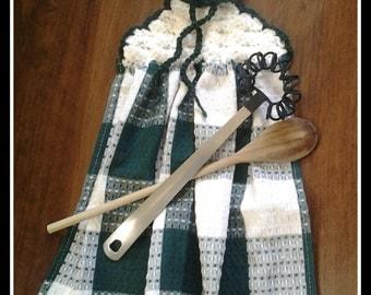 Crochet Pattern, Rocky Road Kitchen Towel Crochet Top