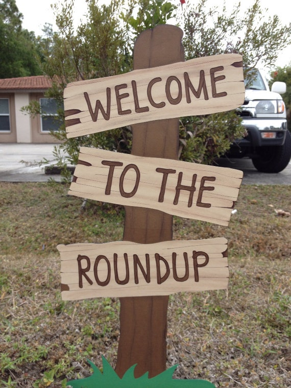 Toy Story Birthday Welcome To The Roundup Standing Sign