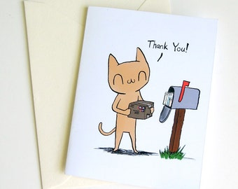 Meu Thank You! A2 size greeting card