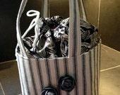 Black Ticking Lunch Bag