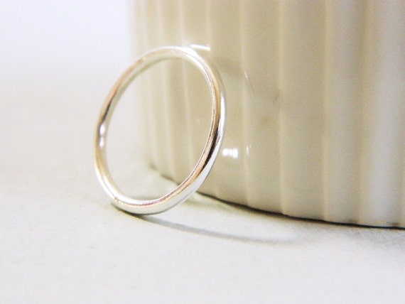 simple silver ring thick silver ring wedding band by