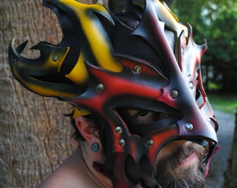 Inferno Leather Great Dragon Mask 2.0