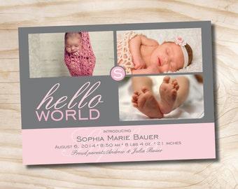 HELLO WORLD Birth Announcement - You Print