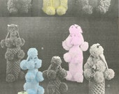 1950s Poodles for Everyone, knitted poodle covers - vintage knitting pattern PDF