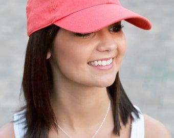 Monogrammed Baseball Cap - Preppy and cute...