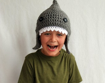 Shark Fish Hat - Kid or Adult Sizes - Accessories by Julian Bean