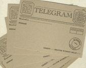 PACK OF 10 Telegram Postcards