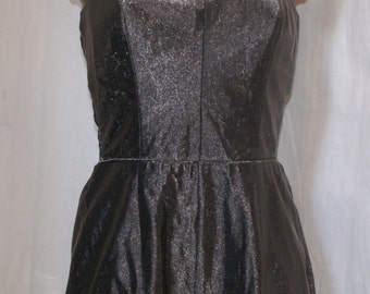 Stunning vintage late 1950s early 60s silver lurex playsuit romper Serafino of Miami M L Rockabilly VLV