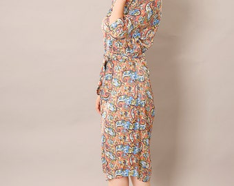 Oversize dress,Loose fit dress,Mid length dress,Tea length dress,Printed midi dress,Belted midi dress,Pregnancy dress,Maternity dress