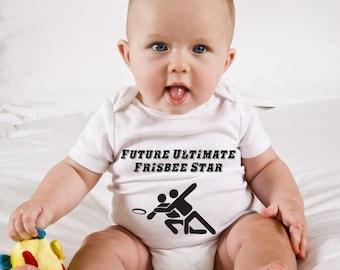 Ultimate Frisbee Baby Onesie, Future Ultimate Frisbee Star Diaper Shirt