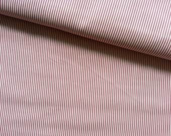 Japanese Fabric Cotton Yuwa - Stripes Pink - a yard