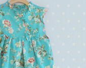 Emerald Kimono Dress for little girls, Party Dress, Toddler Kimono dress, Emerald Floral Dress for girls