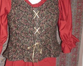 Custom bodice in your fabric, basic Princess pattern without heavy boning.