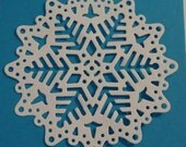 4 x Large Snowflake Doily Die Cuts for Scrapbooking Cards and Paper Crafts Custom Colours