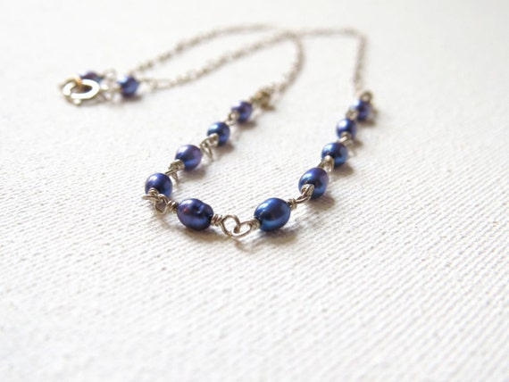 SALE: Twilight on the Ocean Pearl Necklace