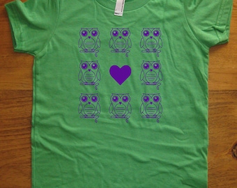 Owl Shirt - Cute Owl T Shirt - 7 Colors Available - Kids Tshirt Sizes 2T, 4T, 6, 8, 10, 12 - Gift Friendly