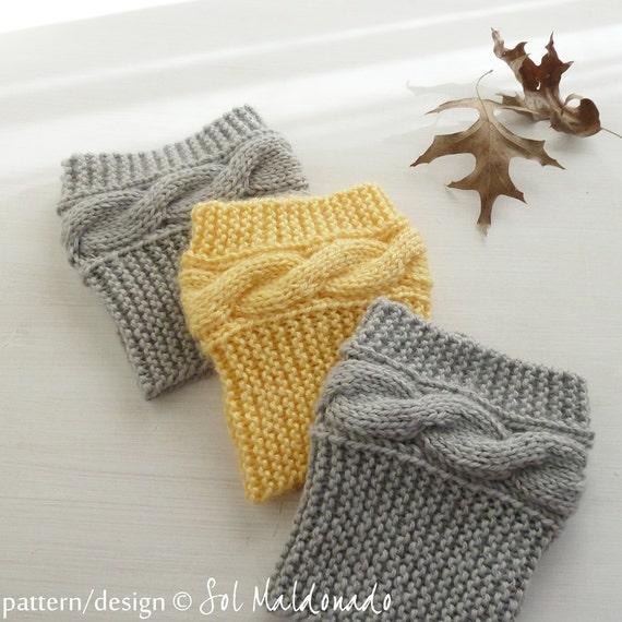 Boot socks pattern Boho Knits Boot Cuffs leg warmers PDF