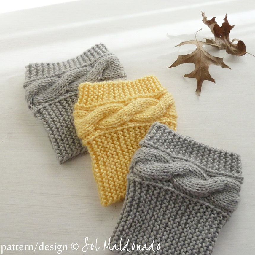Boot Cuff Knitting Patterns : Boot socks pattern Boho Knits Boot Cuffs leg warmers PDF