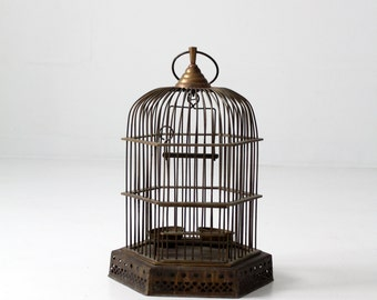 FREE SHIP  antique brass birdcage, decorative bird cage