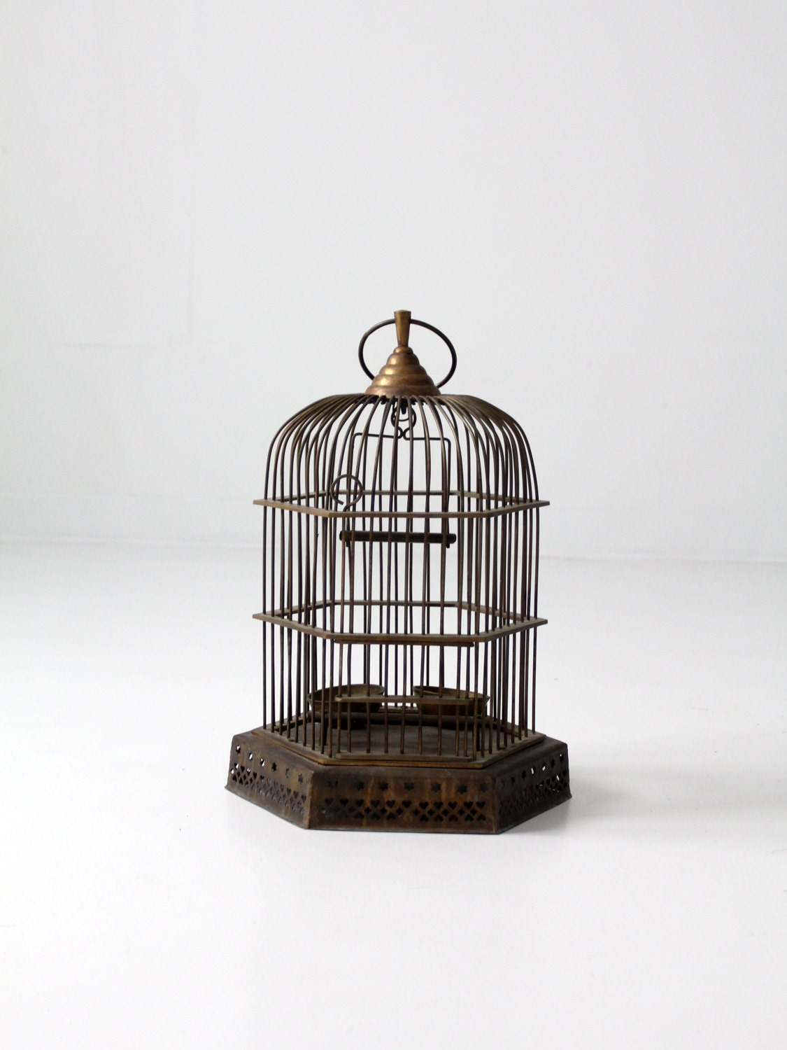 antique brass birdcage decorative bird cage. Black Bedroom Furniture Sets. Home Design Ideas