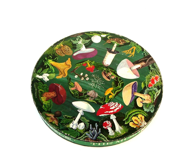 Vintage Springbok Puzzle Mushroom Jigsaw Puzzle 1968