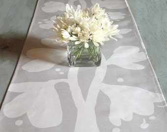 Modern Gray Linen Table Runner Weddings Parties Showers