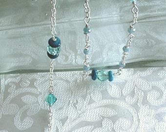 Blue Zircon Swarovski Crystal and Lion December Birthstone Anglican Rosary